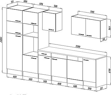 respekta CERAN – Cocina Equipada (340 cm, vitrocerámica York de ...