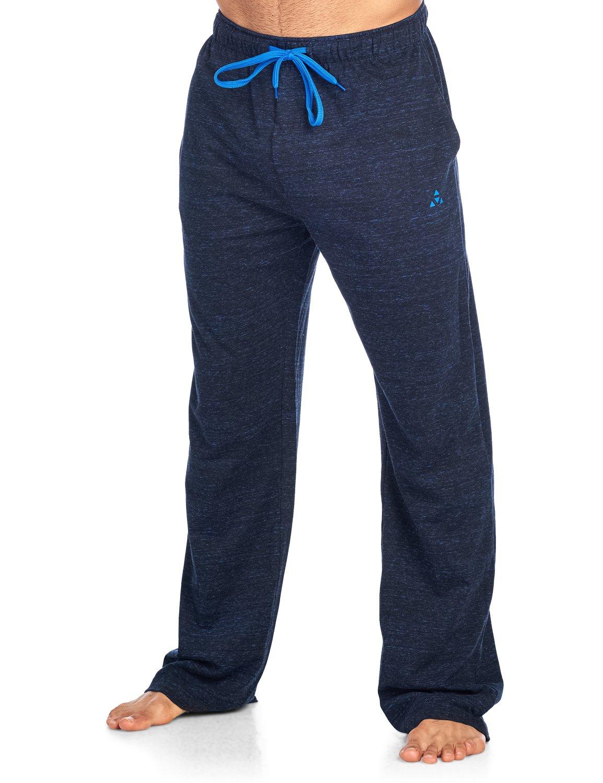 Balanced Tech Men's Jersey Knit Lounge Sleep Pants - Black/Royal Multi Speckle - Large/L