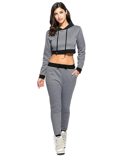 FastDirect Conjunto Sudadera para Mujer Sudadera Deportiva con Capucha y  Pantalones Chándal Mujer  Amazon.es  Ropa y accesorios 45e5360b1b0cd
