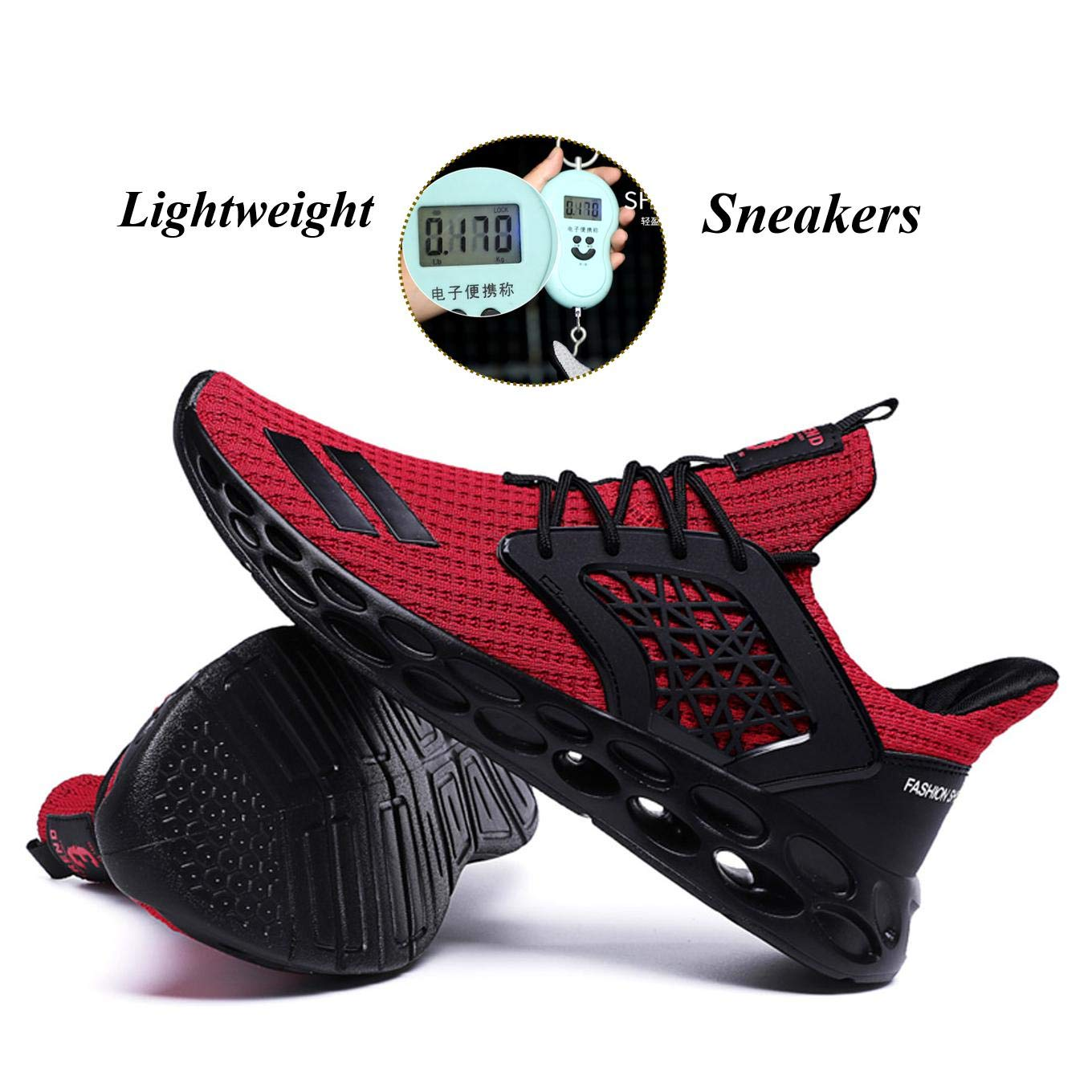 Qiucdzi Men s Casual Walking Shoes Air Cushion Sneakers Breathable Lightweight Outdoor Athletic Gym Running Shoes