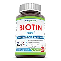 Pure Naturals Biotin Dietary Supplement - 10, 000 mcg - 200 Capsules - Supports...
