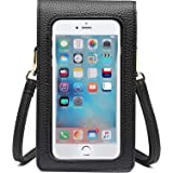 Kingten Lightweight Leather Cell Phone Purse - Small Crossbody Bag Wristlet Purse with 2 Shoulder Straps for Women