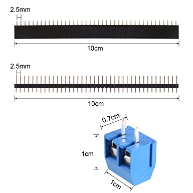 MVPOWER Set de Tableros de PCB y Accesorios de Doble Cara Placa de PCB Prototipo (20pcs Placas de PCB 5*7cm / 4*6cm / 3*7cm / 2*8cm, 10pcs de Bloques de ...