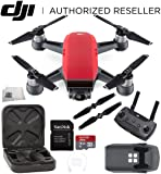 DJI Spark Quadcopter (Lava Red) + DJI Spark Remote Starter Bundle