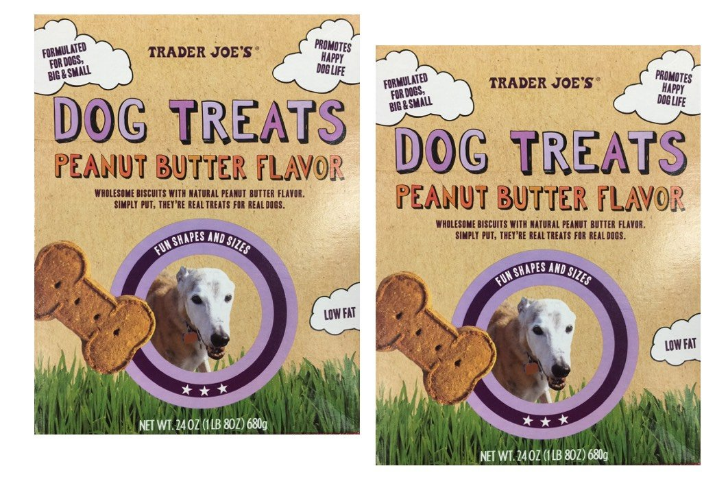 Trader Joe's Natural Dog Treats - Peanut Butter (Two 24 Oz Packages)