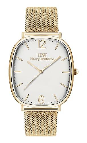 Reloj Harry Williams Portobello Road dorado hombre solo tiempo: Amazon.es: Relojes