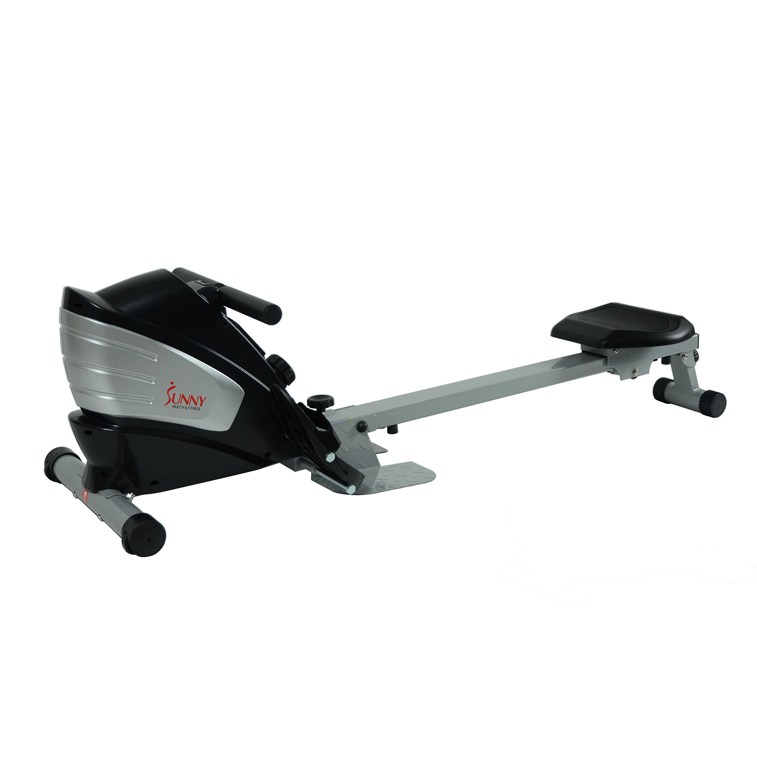 Sunny Health & Fitness SF-RW5622 Dual Function Magnetic Rowing Machine Rower w/ LCD Monitor by Sunny Health & Fitness