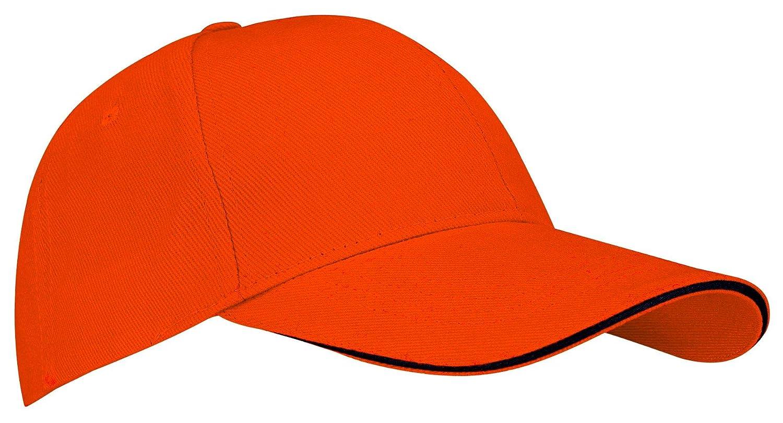 41d1e914a07d45 New Port Men's 23CB Baseball Cap, Orange/Black, One Size: Amazon.co.uk:  Sports & Outdoors