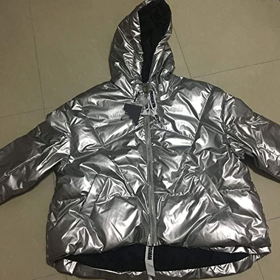 Amazon.com: Hooded Down Jacket Silver Color Parka Women Outwear Duck Down Jacket Winter Thick Down Coat: Clothing