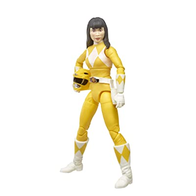 Power Rangers Lightning Collection 6-Inch Mighty Morphin Yellow Ranger Collectible Action Figure Toy with Accessories: Toys & Games