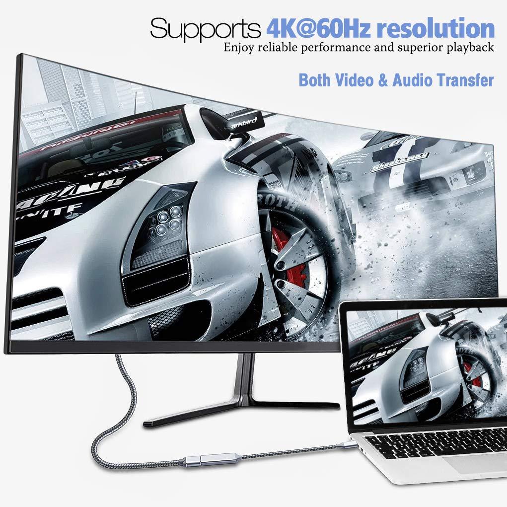 Highwings USB C to HDMI Adapter (4K@60Hz), Type C to HDMI Adapter,Thunderbolt 3 Compatible,Compatible Samsung Galaxy Note 9/S8/S9 Plus/Note8,Surfacebook 2, Pixelbook,2017 MacBook, 2017 iMac,Grey by Highwings (Image #2)