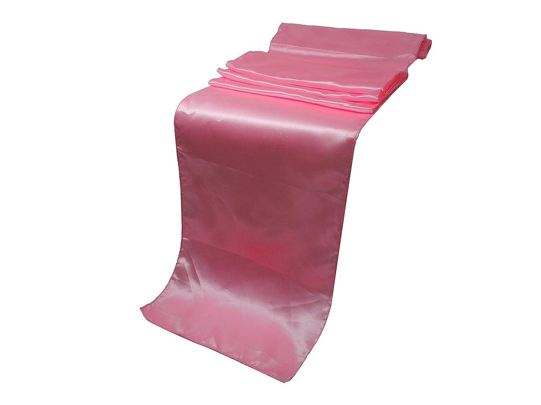 (Pink) - ELINA'S PACK OF10 Wedding 30cm x 270cm Satin Table Runner Wedding Banquet Decoration- Gold (PINK)   B01M13RAS8
