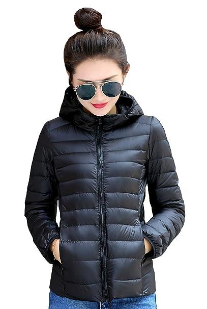 35a9cbea1 Jackcsale Women's Hooded Packable Ultra Light Down Jacket Coat ...
