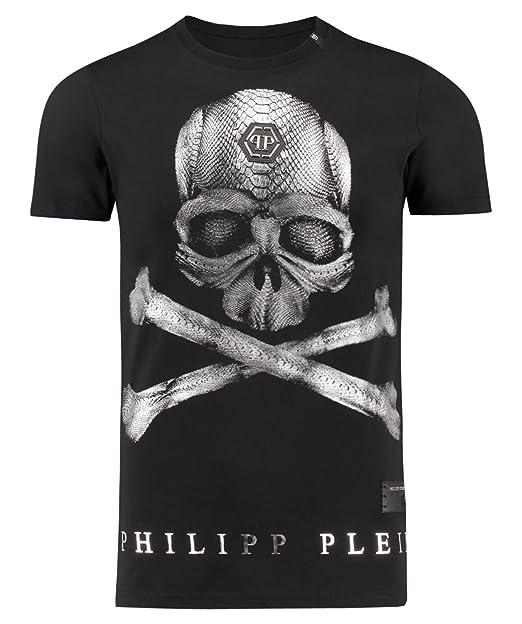 reputable site 46879 fee6c PHILIPP PLEIN T-Shirt Uomo Unow Black/White (L): Amazon.it ...