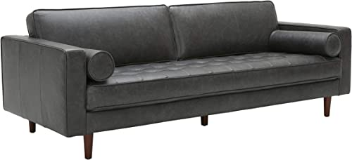 "Amazon Brand Rivet Aiden Mid-Century Modern Sofa Couch 86.6""W"