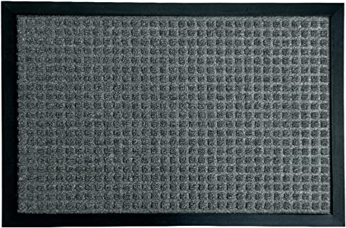 Rubber-Cal 03-199-ZWCH Nottingham Entrance Rug Mat, 18 x 30 , Charcoal