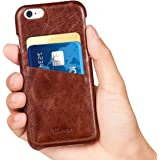 iPhone 6s / 6 Case, Benuo Card Slot Series, Vintage Fashion Style, Genuine Leather Case, Leather Case Back Cover for iPhone 6 / 6s 4.7 inch (Stylish Brown)
