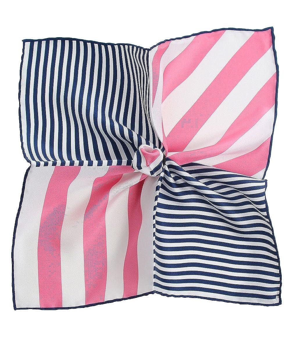 Hemley Mens Silk Patterned Pocket Square Pink