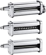 Pasta Maker Attachments Set for all KitchenAid Stand Mixer, including Pasta