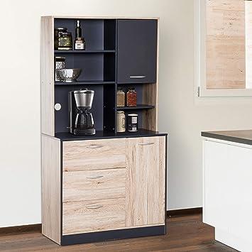 Amazon.com: Modern Design Sideboard Cupboard Kitchen Storage ...