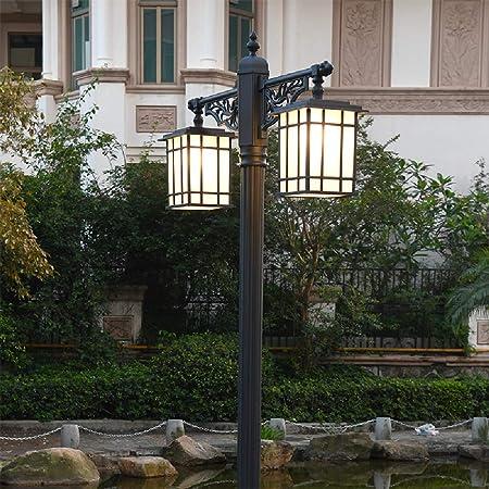Ailtb 2-luces de la calle Villa Jardín Alto poste ligero IP55 impermeable al aire libre