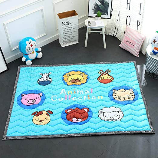 Baby Play Mat Cotton Floor Gym Cojín De Gatear para Niños No ...