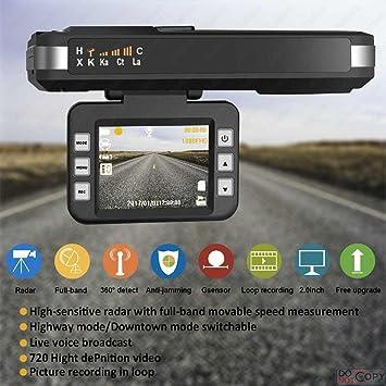 Detector Speed Trap, 2018. Nuevo detector de radar con cámara HD DVR para salpicadero de SmartPro: Amazon.es: Electrónica
