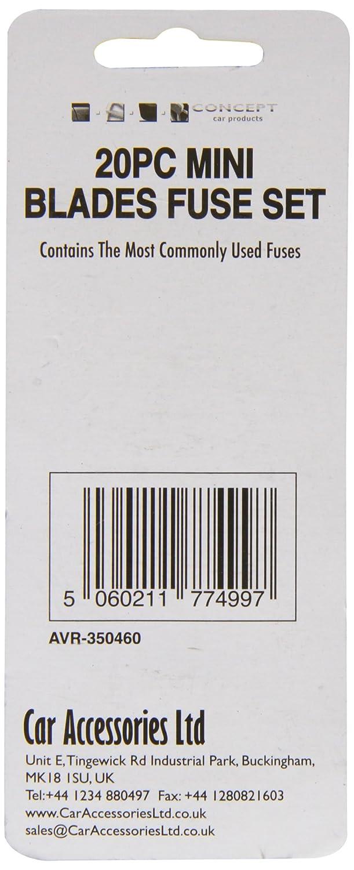 Brookstone AVR-350460 Mini Fuse Set 20 Pieces