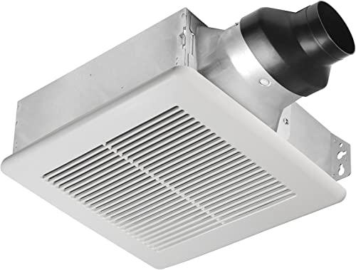 Broan-Nutone LP80 LoProfile Ventilation Fan, Wall- or Ceiling-Mount Exhaust Fan for Bathroom and Home, 1.0 Sones, 80 CFM