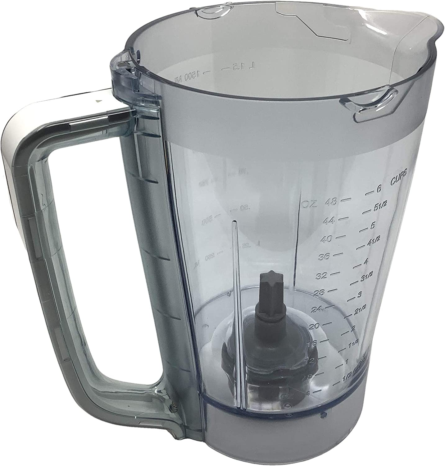 Ninja 48oz Pitcher Bowl for BL206 BL207 BL250 700w Extreme Kitchen System Pulse Blender, White