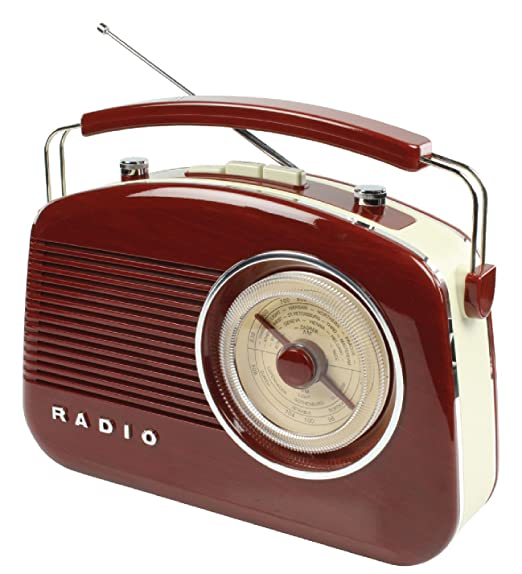 8 opinioni per König Radio AM/FM con Design in Stile Retrò, Marrone