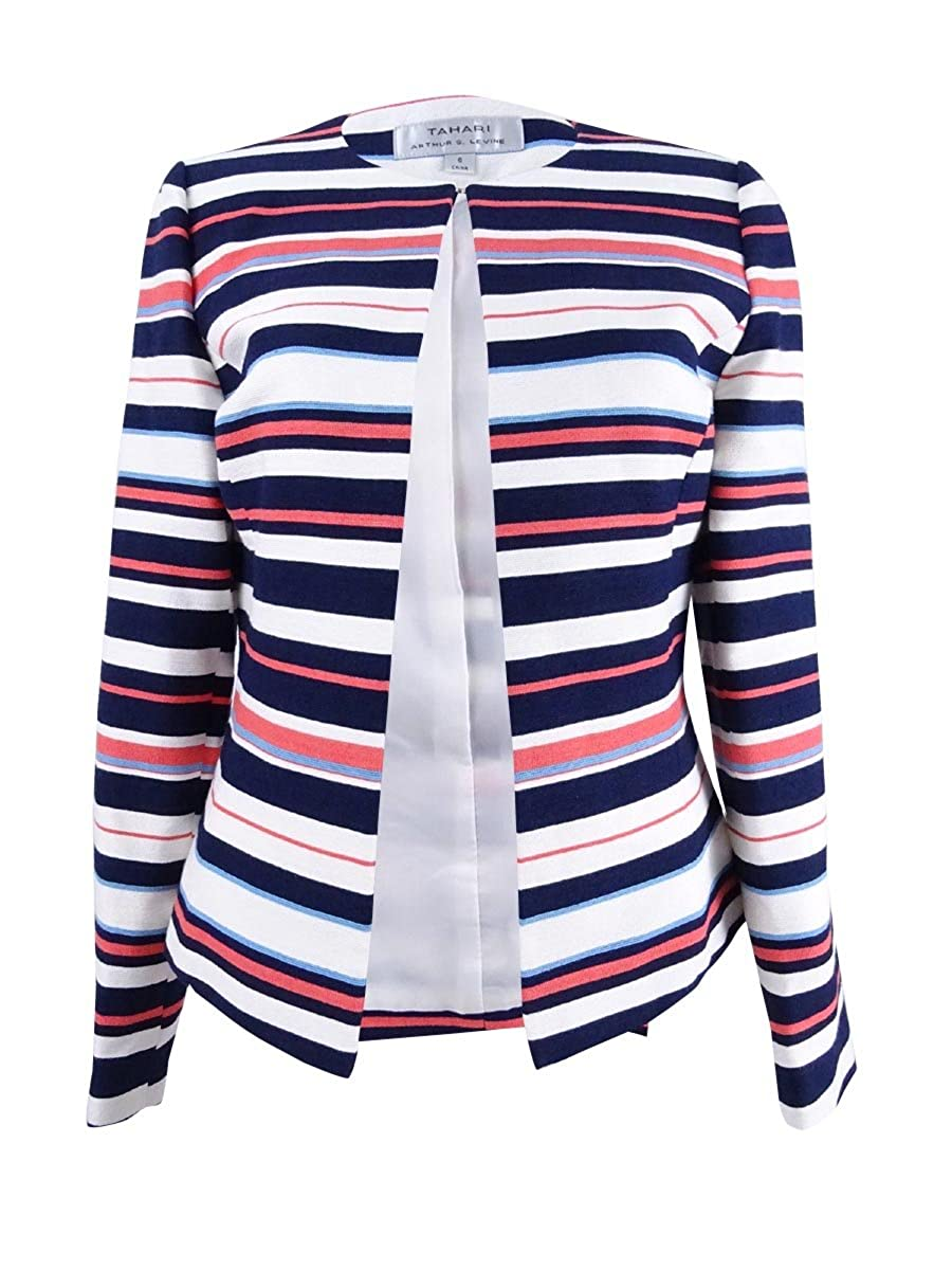 Tahari ASL Novelty Stripe Jacket