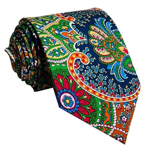 shlax&wing La Moda Hombre Boda Seda Corbatas Para Multicolor Geométrico Floral Z2iQmmg
