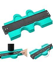 Contour Gauge Duplicator 10 Inch Plastic Irregular Copy Contour Tool Standard Wood Marking Tool Tiling Laminate Tiles General Tools (Green, 10 inch)