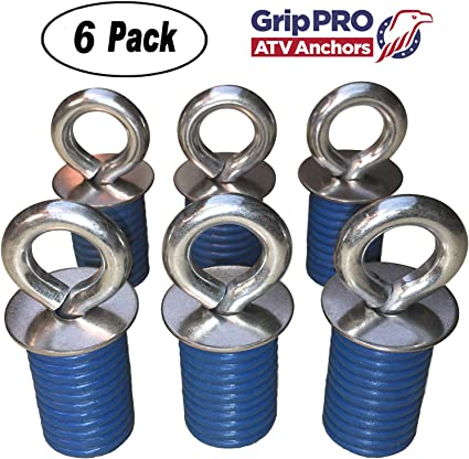 Set of 6 SIX Lock and Ride type Anchors by GripPRO ATV Anchors Polaris Ranger Lock /& Ride ATV Tie Down Anchors