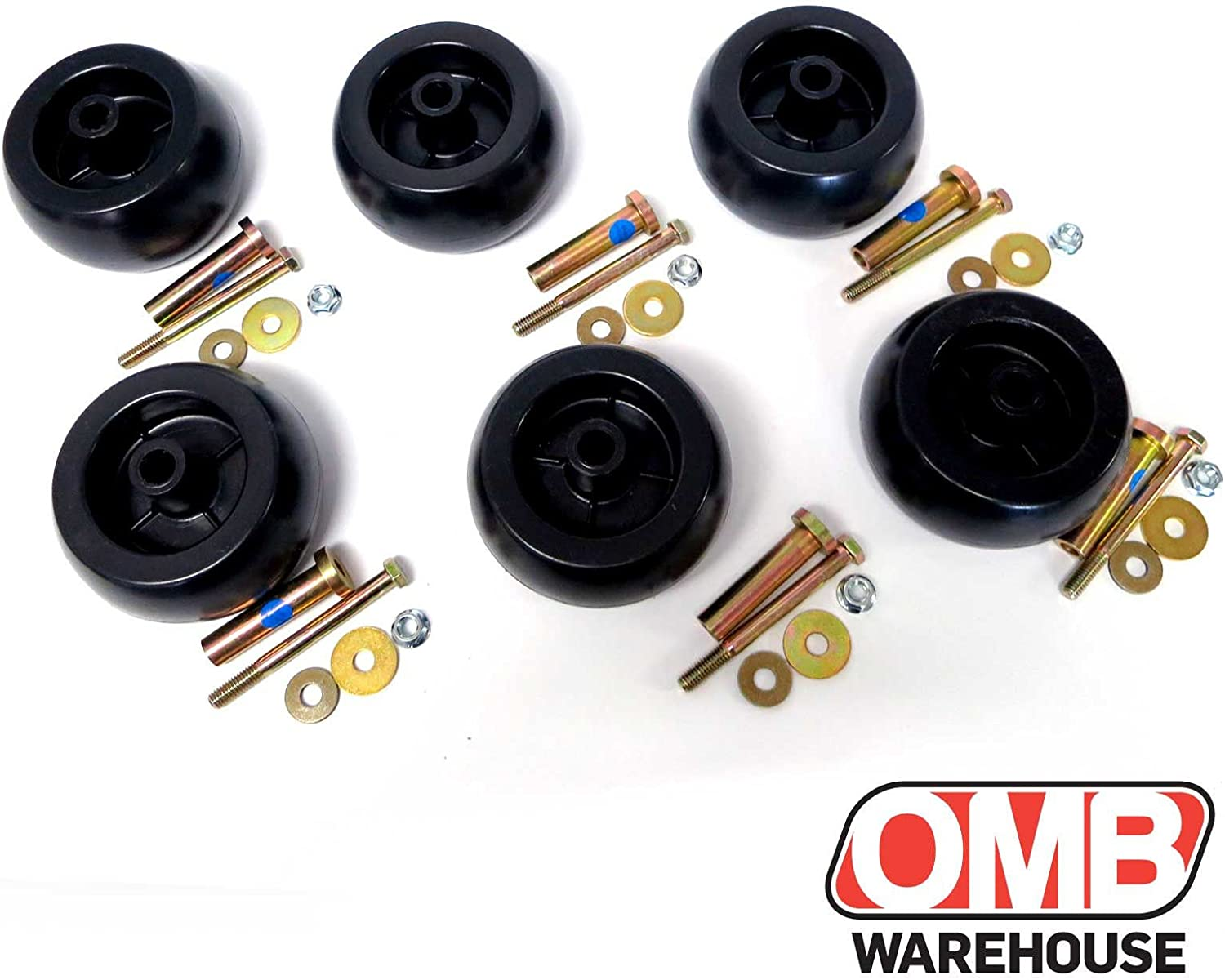 103-4051 Six 6 Deck Wheel Roller Kits with Hardware for Exmark Mower 103-3168