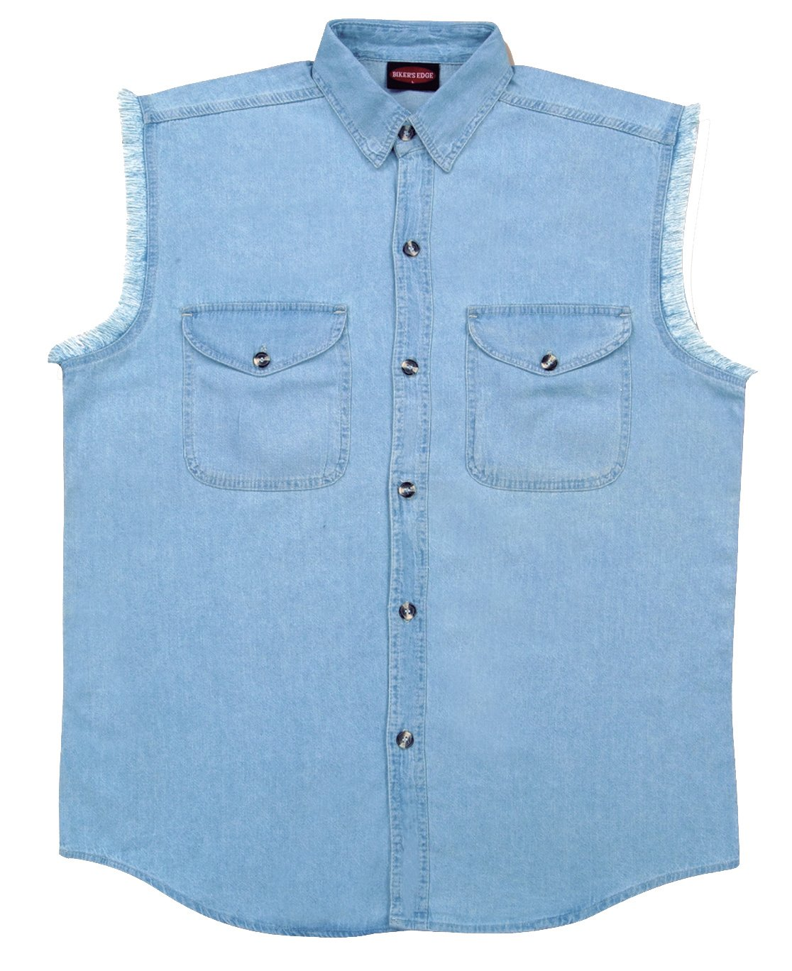 XX-Large Milwaukee Performance DM1001-LBLU-2X Mens Denim Sleeveless Shirt Light Blue