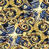 Doctor Who Stoff–0,5Meter–SC027–Explodierende Tardis Dr Who–von Springs Creative–100% Baumwolle Tardis Exploding Dr Who SC027