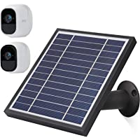 iTODOS Solar Panel Compatible with Arlo Pro and Arlo Pro 2, 11.8Ft Outdoor Power Charging Cable and Adjustable Mount,Not for Arlo Ultra and Arlo Pro3 (Black)