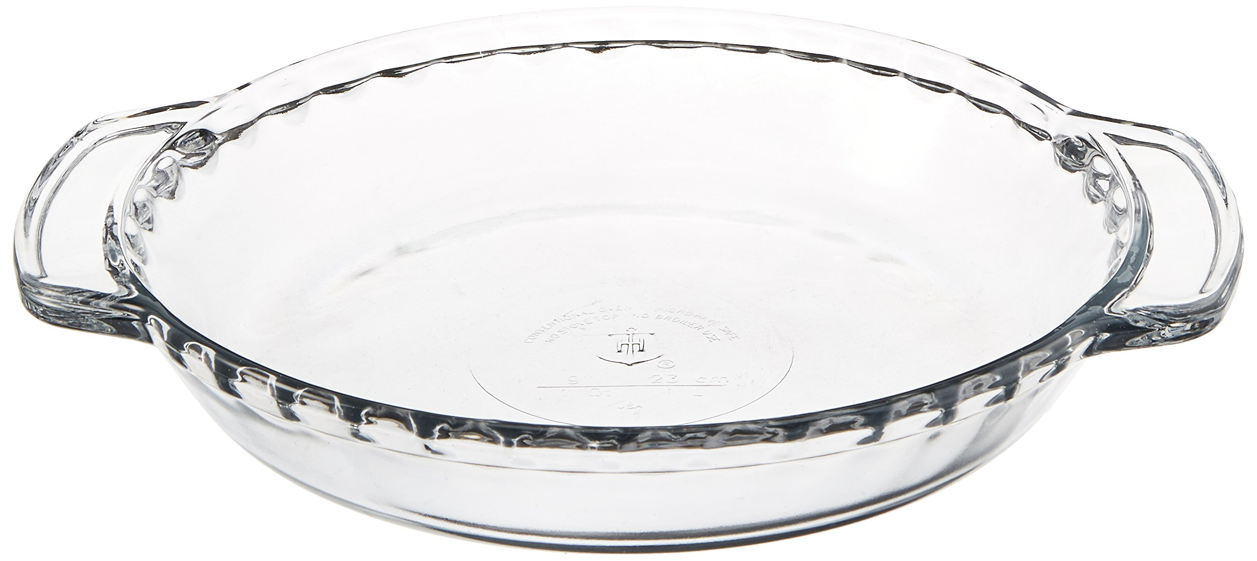 Anchor Hocking 77886 Fire-King Deep Pie Baking Dish, Glass, 9-Inch