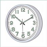 22 cm Karanlıkta Parlayan Fosforlu Beyaz Kahve Siyah Duvar Saati