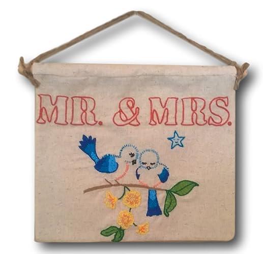 Amazon Com Custom Mr And Mrs Bluebird Hand Embroidered Antique