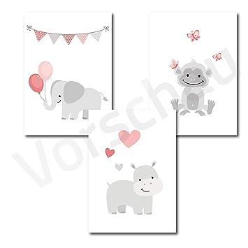 Papierschmie.de Kinderposter 3er-Set | Motiv: Babytiere ...