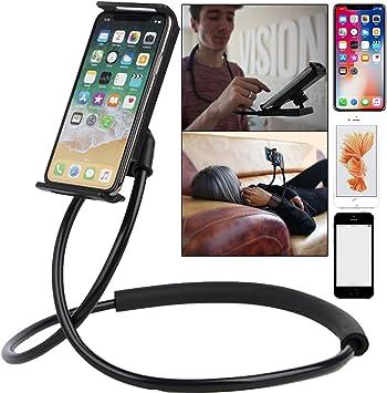 FlexiOne Soporte de móvil para el cuello negro atril para móvil ...