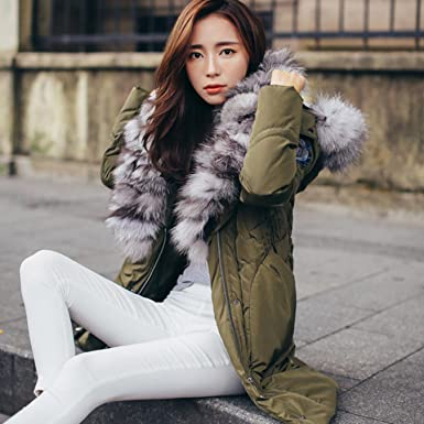 HOIJHD Winter Women Long Down Jacket Coat