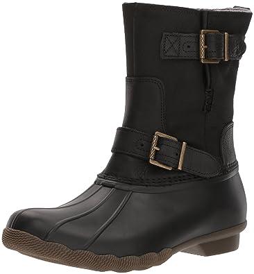 5119030a93 Sperry Women s Saltwater Acadia Rain Boot Black 5.5 Medium US