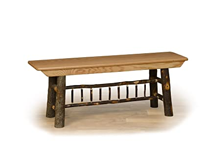 Groovy Amazon Com Rustic Hickory Farm Bench Oak Seat 5 Ft Long Theyellowbook Wood Chair Design Ideas Theyellowbookinfo