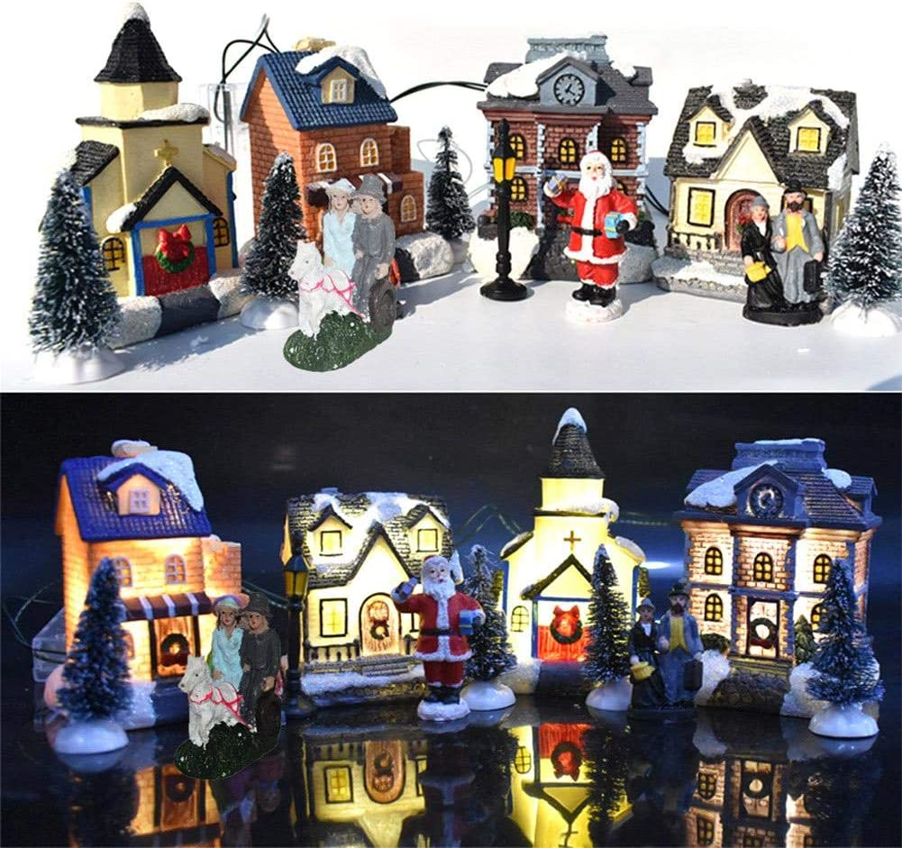 Keepsake Christmas Villages 2020 Amazon.com: evergremmi Mini Christmas Village Houses, Resin