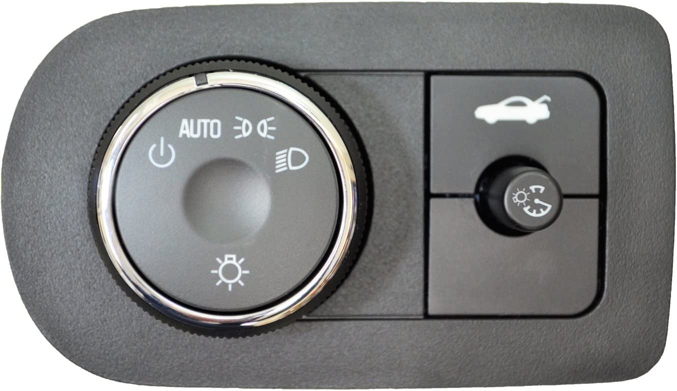 Trunk Lid Release Switch without Traction Control Headlight PT Auto Warehouse HLS-11480 without Fog Lights Instrument Panel Dimmer Switch