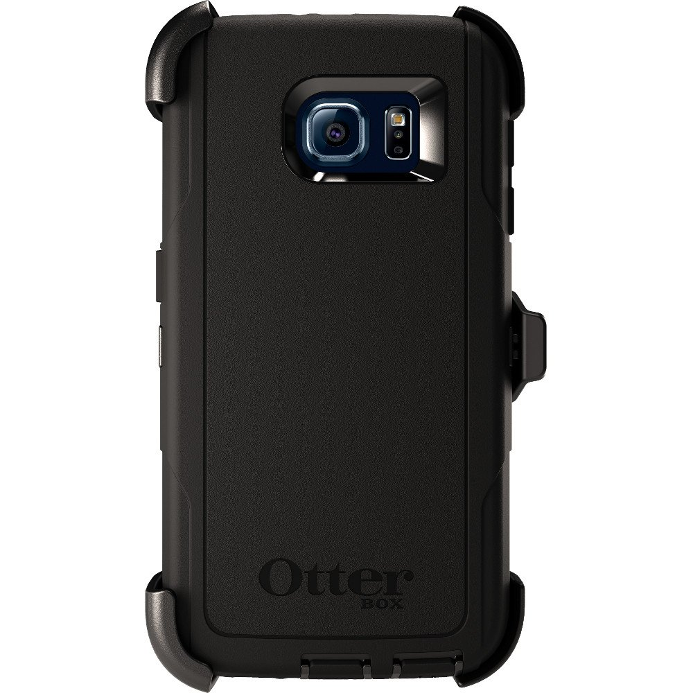 OtterBox Defender Series Case & Holster for Samsung Galaxy S6 - Black (Certified Refurbished)